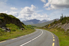 Irish road. Road in Connemara mountains - Ireland Royalty Free Stock Images