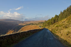 Irish Road. Sally Gap, Irish Road in Wicklow, Ireland royalty free stock image