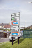 Irish road signs in kerry Stock Image