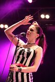 Irish rockabilly singer Imelda May during his show in Cruilla Barcelona Festival, July 12, 2014 Royalty Free Stock Photography
