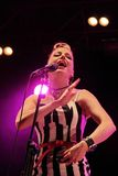 Irish rockabilly singer Imelda May during his show in Cruilla Barcelona Festival, July 12, 2014 Stock Photos