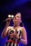 Irish rockabilly singer Imelda May during his show in Cruilla Barcelona Festival, July 12, 2014 Stock Images