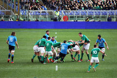 Irish rugby action Royalty Free Stock Photos