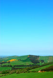 Irish Rural Fields Landscape. View of Tipperary Hills in Ireland Stock Images