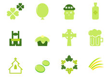 Irish & Saint Patrick's Day icons and elements. Royalty Free Stock Photography