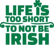 Irish saying - Life is too short to not be irish Stock Photography