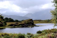Irish scenery landscape. Lake and mountain. stock photos