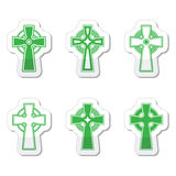 Irish, Scottish celtic cross  sign Royalty Free Stock Images