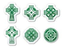 Irish, Scottish Celtic cross on white  sign Royalty Free Stock Image