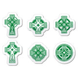 Irish, Scottish Celtic cross on white  sign Stock Image