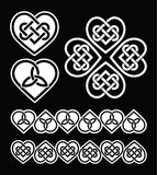 Irish, Scottish celtic heart  pattern Royalty Free Stock Photography