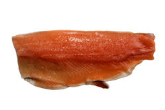 Irish sea trout fillet, isolated on white Royalty Free Stock Images