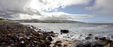 Irish Seascape, Ballygalley, Antrim Country Stock Image