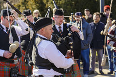 Irish senior bagpipers Stock Photography