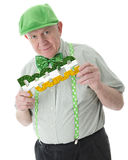 Irish Senior for Peace Royalty Free Stock Photography
