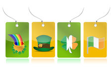 Irish set of tags illustration Stock Images