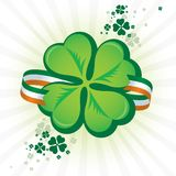 Irish Shamrock Icon Stock Photo