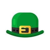 Irish shamrock icon in flat style design. Three leaf clover symb Royalty Free Stock Photography