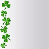 Irish shamrock. Illustration of Irish Shamrock clover in shades of green with nicely curving stalk, white background Stock Photo