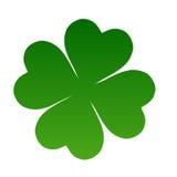 Irish shamrock. Illustration of Irish Shamrock clover in shades of green with nicely curving stalk, white background Royalty Free Stock Image