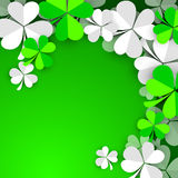 Irish shamrock leaves background Stock Photo