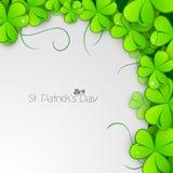Irish shamrock leaves background Stock Photo