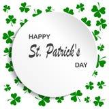 Irish shamrock leaves background for Happy St. Patrick`s Day. EPS 10. Irish shamrock leaves background for Happy St. Patrick`s Day. EPS 10 Royalty Free Stock Images