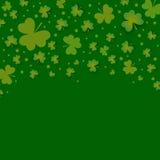 Irish shamrock leaves background for Happy St. Patrick's Day Royalty Free Stock Photo