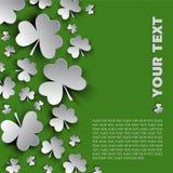 Irish shamrock leaves background for Happy St. Patrick's Day Royalty Free Stock Image