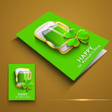 Irish shamrock leaves greeting or gift card Royalty Free Stock Photography