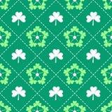 Irish Shamrock leaves pattern Royalty Free Stock Images