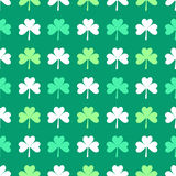 Irish Shamrock leaves pattern Stock Images