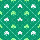 Irish shamrock leaves pattern Royalty Free Stock Photography