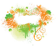 Irish shamrock paint splatter vector illustration