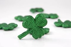 Irish Shamrocks. On white background Royalty Free Stock Photo
