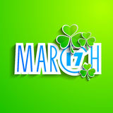 Irish shamrocks background. With text 17 March. EPS 10 Stock Photos