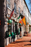 Irish shop. In Downtown Fredericksburg Virginia Royalty Free Stock Photography