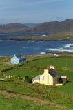 Irish shore. Houses by the ocean at Beara, Ireland Stock Images