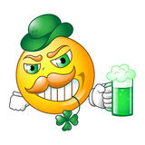Irish smiley. Stock Photo