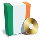 Irish software box and CD. Irish software box with national flag colors and CD