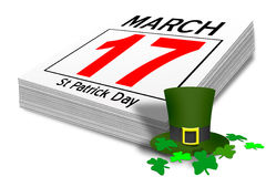 Irish st patrick's day calender Stock Images