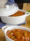 Irish stew in ceramic bowls Stock Photos