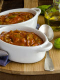 Irish stew in ceramic bowls Royalty Free Stock Image