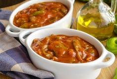 Irish stew in ceramic bowls Stock Photo