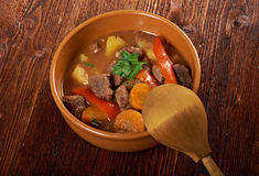 Irish stew farm-style Stock Photo