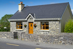 Irish stone cottage house Stock Photo