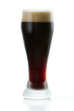 Irish stout. Isolated on a white background served in a cold glass Royalty Free Stock Photo