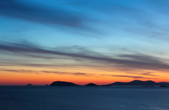Irish sunset from Beara peninsula Royalty Free Stock Photography
