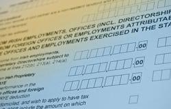 Irish tax form. Personal income tax form. Stock Photos
