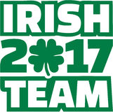 Irish Team 2017 St. Patrick`s Day Royalty Free Stock Photo